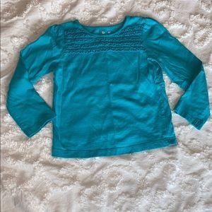 Jumping beans, blue long sleeve shirt